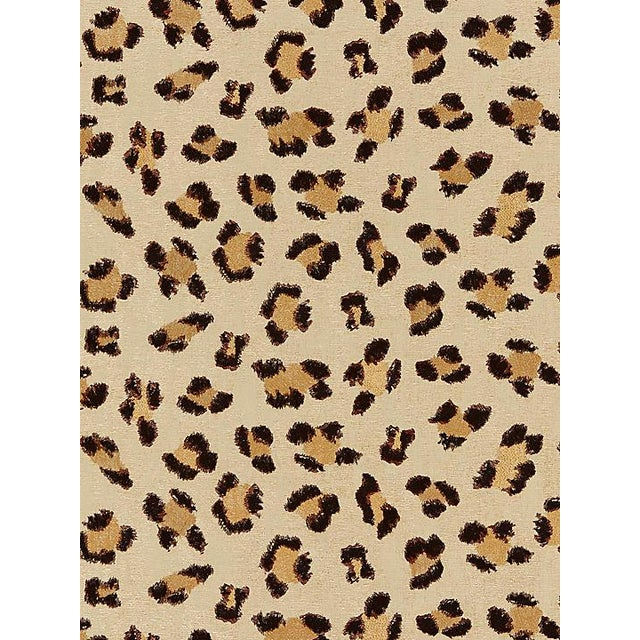 Transitional Scalamandre Broderie Leopard, Chocolate on Sand Fabric For Sale - Image 3 of 3