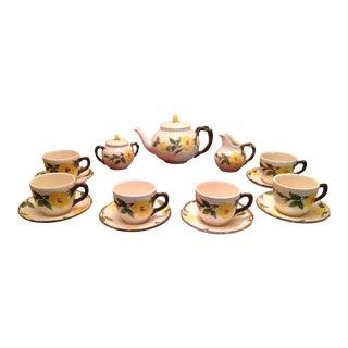 Vintage Franciscan Meadow Rose Tea Set - Service for 6 For Sale