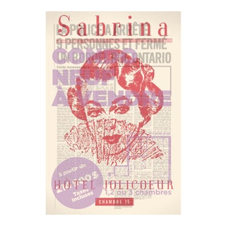 2000's Contemporary Poster - Sabrina Hotel Jolicoeur by Slep For Sale