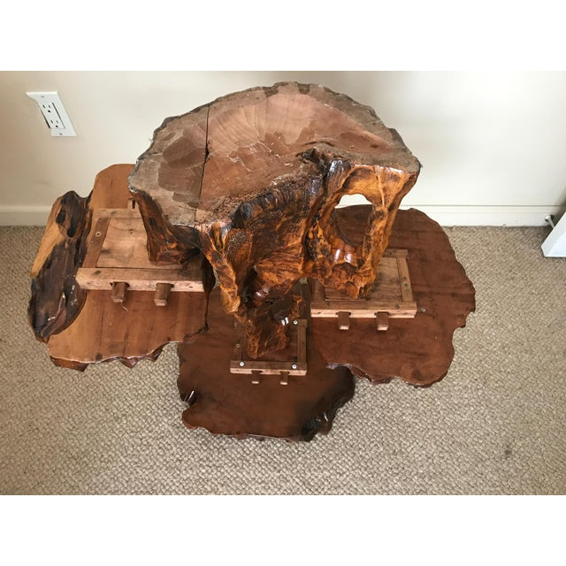 Burlwood Live Edge Side Table For Sale - Image 10 of 10