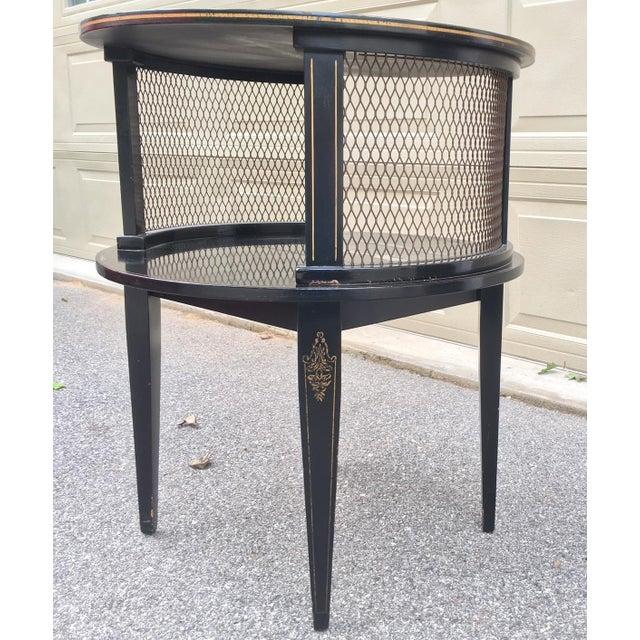 Vintage Katherine Henick Signed End Table For Sale - Image 4 of 9