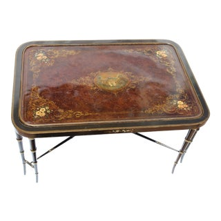 19th C. English Butlers Tray Table For Sale