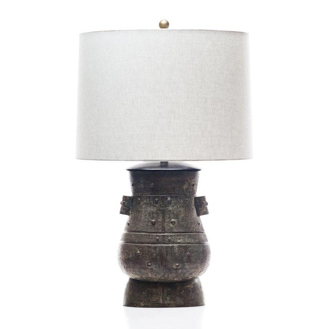 Lawrence & Scott Hogo Table Lamp in Archaic Bronze For Sale In Seattle - Image 6 of 6