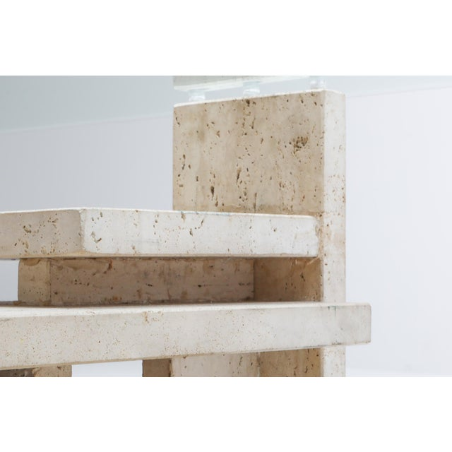 Stone Travertine Postmodern Coffee Table - 1970s For Sale - Image 7 of 10