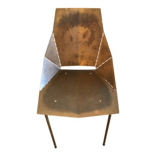 Modern Copper Accent Chair For Sale