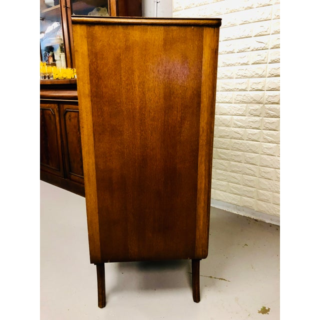 Brown Danish Modern Chest of Drawers For Sale - Image 8 of 9
