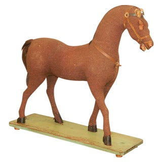 Folk Arty Horse Figure For Sale