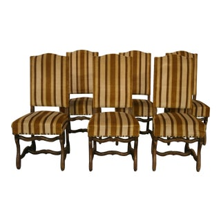 1920'S French Mutton Bone Dining Side Chairs - Set of 6