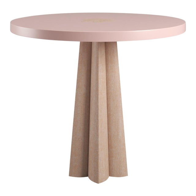 Danielle Side Table - Natural Cerused Oak - Coral Dust For Sale