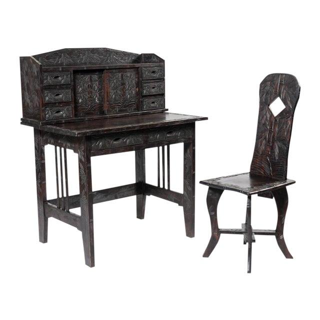 Oriental Ladies Writing Desk & Chair - Image 1 of 6