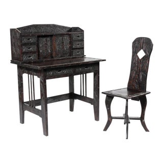Oriental Writing Desk & Chair