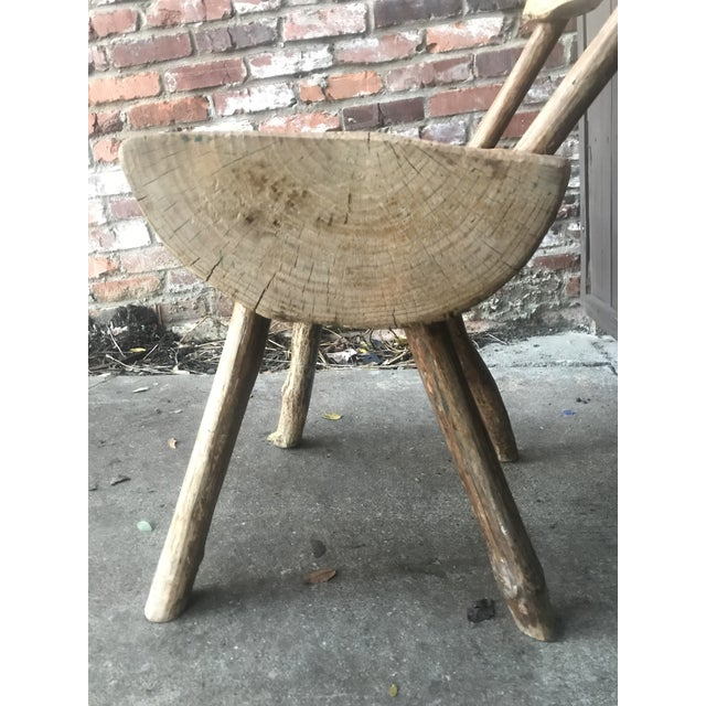 1800's Vintage Rustic Handmade Log Chair For Sale - Image 4 of 10