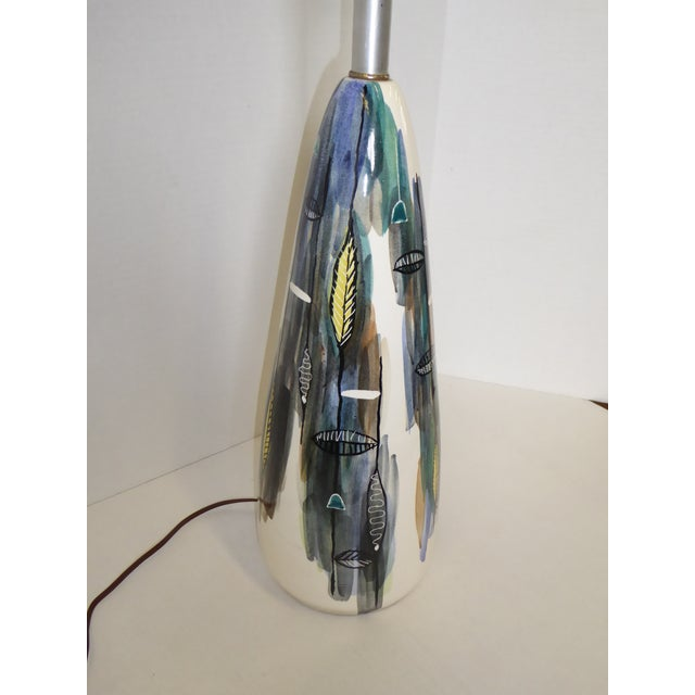 """Mid-Century Modern Tall Ceramic Table Lamp with Diffuser, Signed """"Strong"""" 1950s For Sale - Image 9 of 12"""