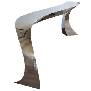 Contemporary Curtis Norton Sculptural Welded Stainless Steel Console For Sale