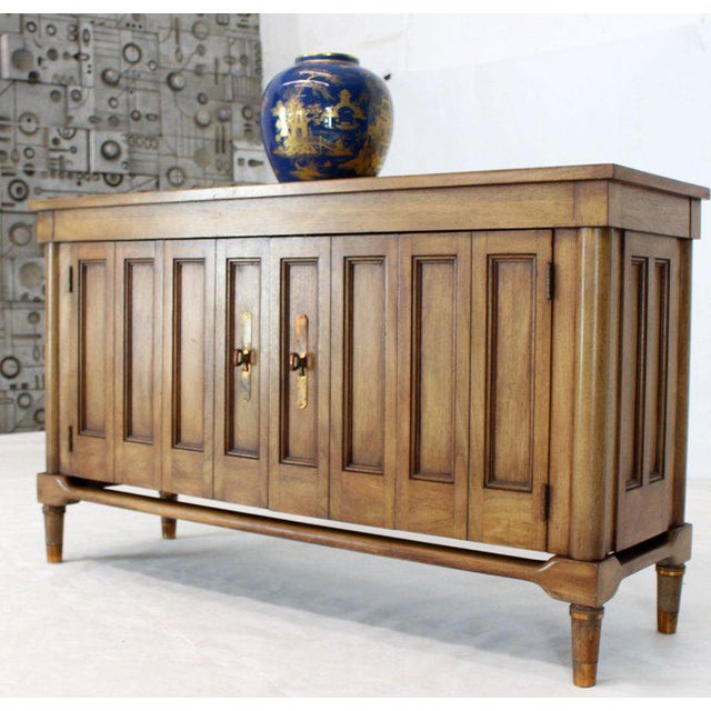Fruitwood Mid-Century Modern Petit Fruitwood Credenza With Double Accordion Doors For Sale - Image 7 of 11