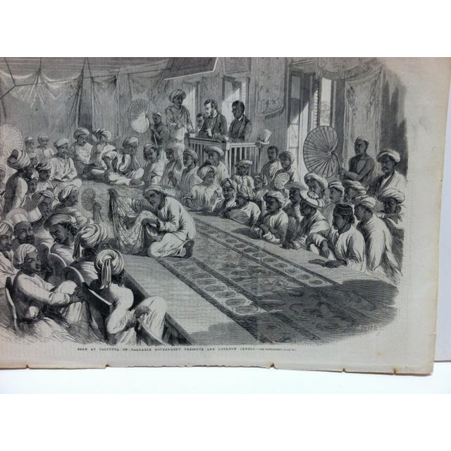 "This is an Antique Original Print from The Illustrated London News that is titled ""Sale of Calcutta of Valuable Government..."