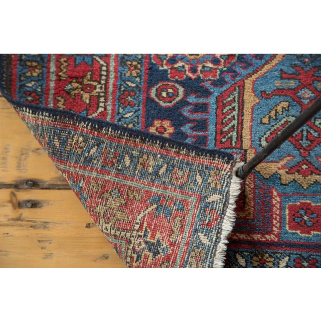 """1930s Distressed Heriz Rug - 3' X 4'6"""" For Sale - Image 5 of 8"""