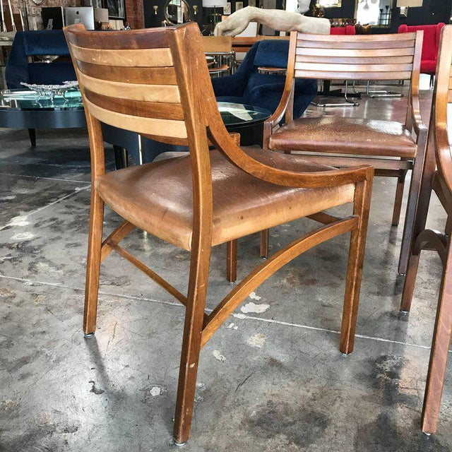 Ico Parisi Mod 110, Italian Walnut and Leather Dining Chairs 1959 For Sale In Los Angeles - Image 6 of 9