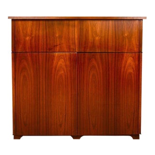 Mid-Century Modern Walnut Cabinet Desk For Sale