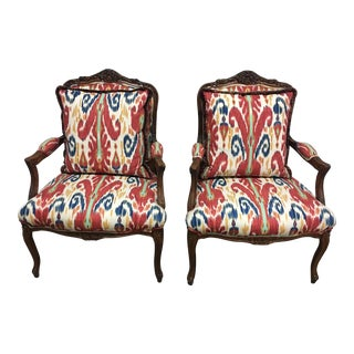 Sherrill Furniture Co French Provincal Armchairs - A Pair
