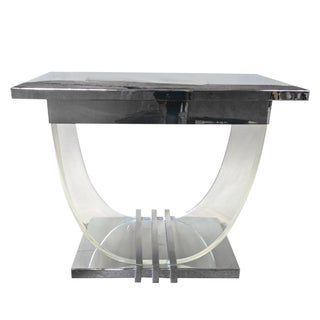 Lucite & Chrome Art Deco Console Table