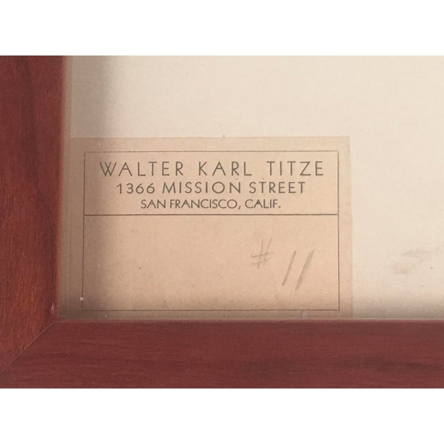Walter Karl Titze Drawing for a Dinner Plate For Sale - Image 9 of 10