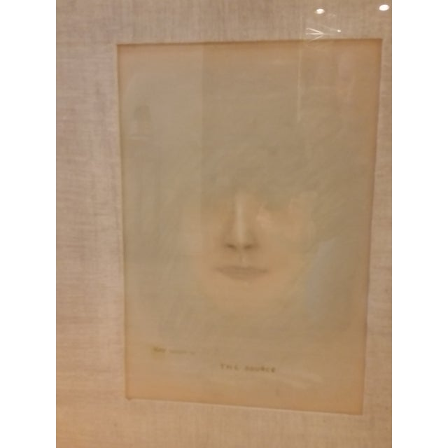 Mid-Century Impressionist Pastel Portait of Woman - Image 3 of 7
