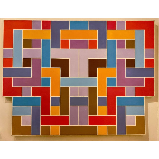 Circa 1970 Large Color Field Acrylic on Canvas by American Artist David Gant For Sale In Richmond - Image 6 of 8