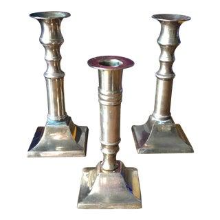 Vintage Brass Candlesticks - Set of 3