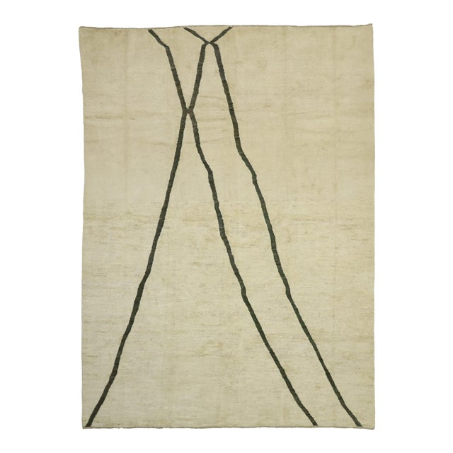 80523 Contemporary Moroccan Area Rug - 10'02 X 13'10 For Sale