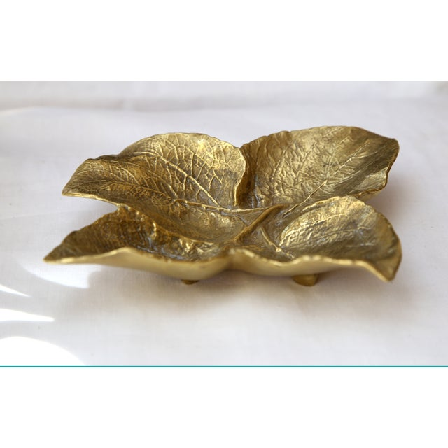 Brass Leaf Tray - Image 2 of 3