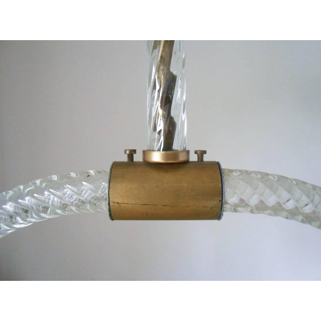 Mid-Century Modern Mid 20th Century Pulegoso Pendant by Ercole Barovier For Sale - Image 3 of 8