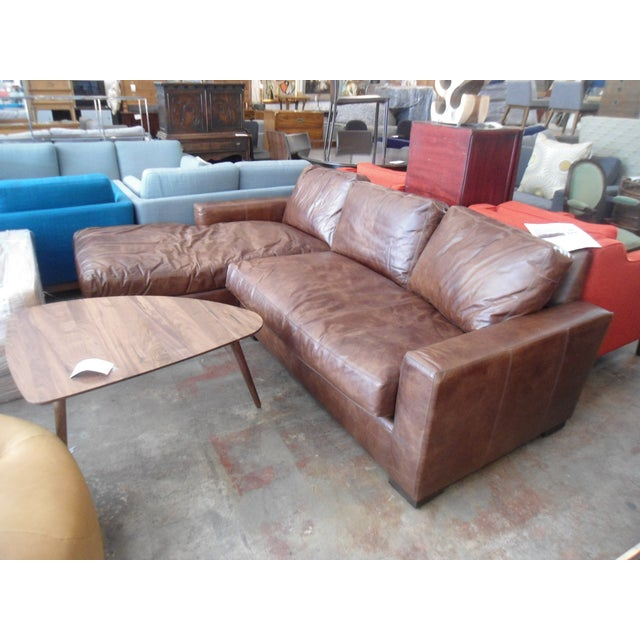 Restoration Hardware Maxwell Petite Italian Brompton Sectional For Sale In Los Angeles - Image 6 of 7