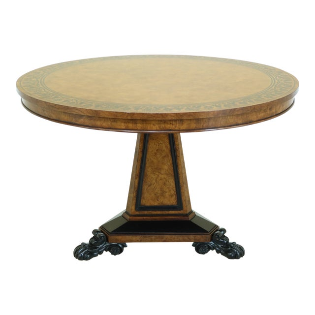 Baker Stately Homes NeoClassical Round Center Table For Sale