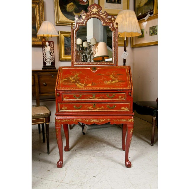 Antique 19th Century Painted Chinoiserie Vanity For Sale - Image 10 of 10