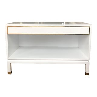 Harvey Probber White Lacquered Side Table For Sale