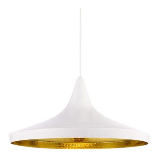 Tom Dixon Beat Wide Pendant - White For Sale