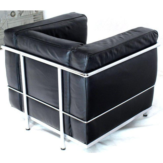 Licensed Le Corbusier Club Chairs and Matching Lc2 Sofa Set- 3 Pieces For Sale In New York - Image 6 of 12