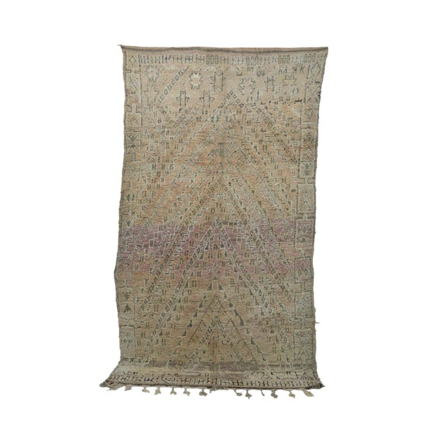 1970s Vintage Moroccan Boujad Rug - 6′4″ × 11′2″ For Sale