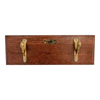 Brass Duck Wood Plaque Hanger For Sale