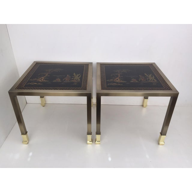 DIA Brass Chinoiserie Design Side Tables - Pair - Image 2 of 9