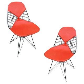 Charles Eames Orange Dkr Bikini Chair for Herman Miller, Pair For Sale