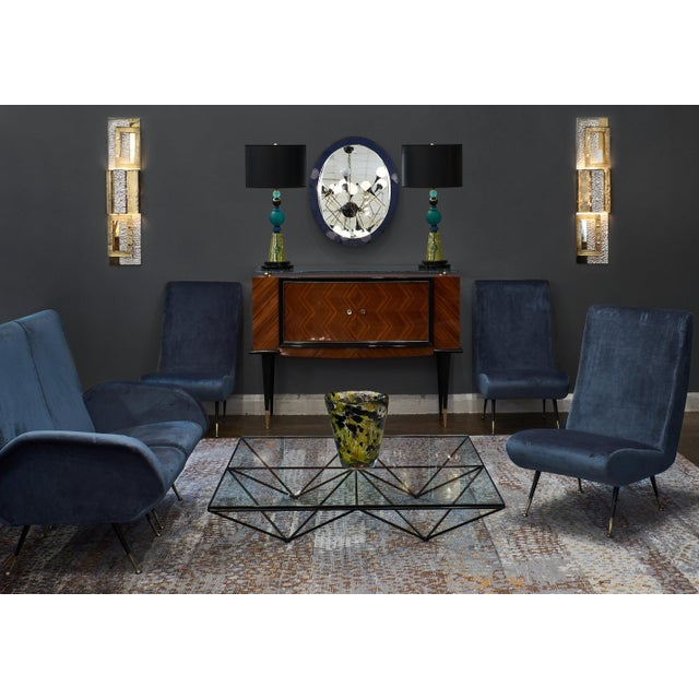 1950s Italian Mid-Century Sectional Sofa - Set of 5 For Sale - Image 4 of 12