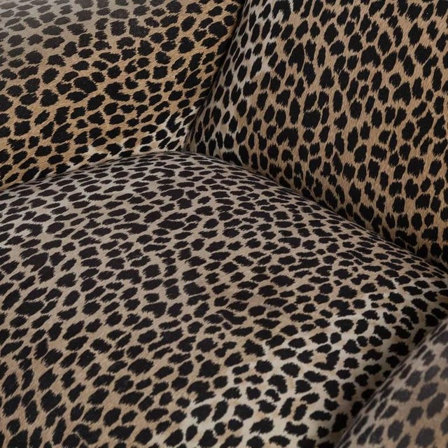A Leopard Print Chair and Stool by Vladimir Kagan - Image 6 of 6