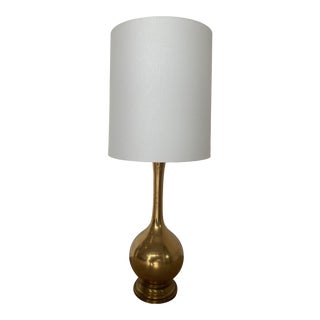 Vintage Mid 20th Century 14k Gold Table Lamp For Sale