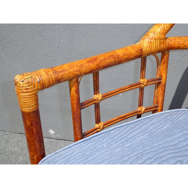 Mid-Century Modern Bamboo & Rattan Arm Chairs - 4 - Image 10 of 11