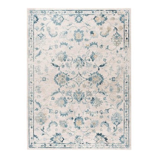 Peyton Claire Traditional Oriental Cream Rectangle Area Rug - 5' x 8' For Sale