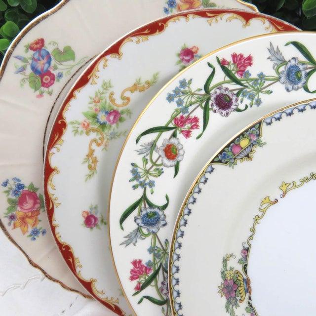 """Mismatched Vintage 8"""" Dessert Plates - Set of 4 - Image 2 of 7"""