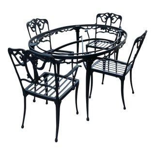 Brown Jordan Mid-Century Florentine Patio/Dining Table With Chairs Set