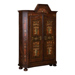 Mid 19th Century Antique Hungarian Armoire For Sale